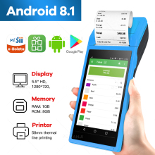Pda Pos Handheld Apparaat Pos Terminal Ingebouwde Thermische Bluetooth Printer 58 Mm Wifi Android Robuuste Pda Barcode Camera Scaner 1D 2D
