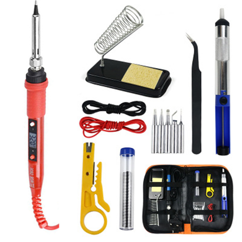 220V 60W/80W Electric Digital Display Temperature Adjustable Welding Soldering Tips Tools Soldering Iron Station