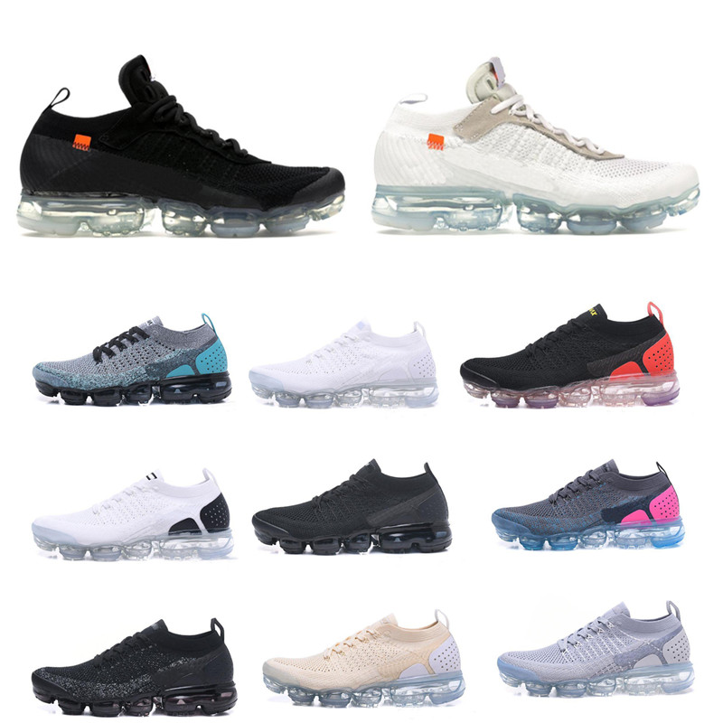 2019 Off-W Vapors 2.0 Women Mens Shoes Triple Black White Red Trainers Sports Designers Sneakers Running Shoes