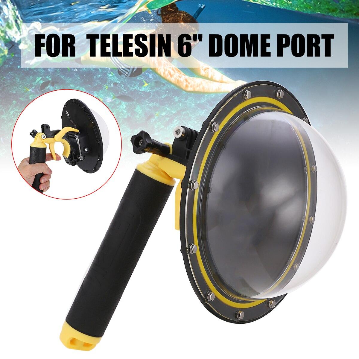 6 Inch Unterwasser Foto Wasserdicht Fall Gehäuse Gewidmet Ersatz Dome Port Abdeckung für GoPro Hero 5 6 7