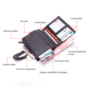 Image 4 - DIENQI RFID Blocking Card Holder Mens Vintageสมาร์ทกระเป๋าสตางค์Bank Idผู้ถือบัตรเครดิตกระเป๋ากรณีป้องกันNederlands