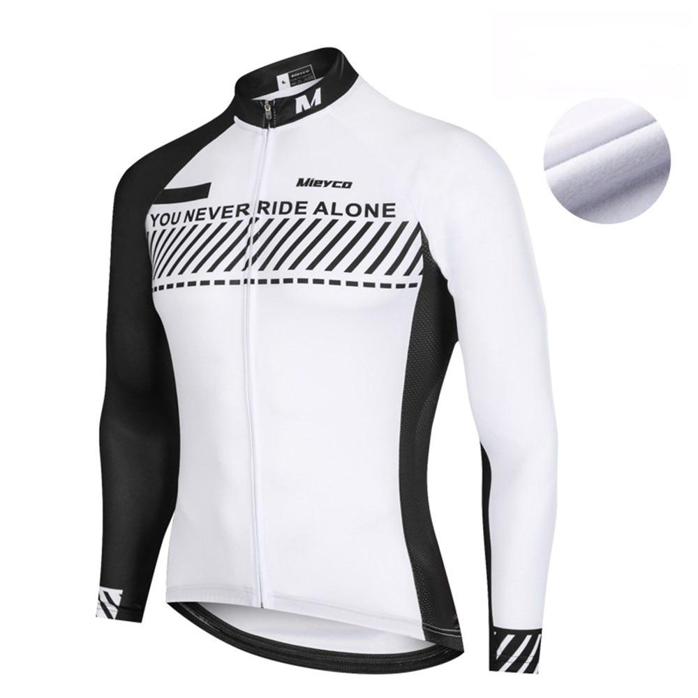 Men cycling jersey long sleeve bike shirt racing clothing bicycle sports uniform