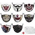 Cosplay Joker 3D Печатный повторяющийся смываемая маска фильтр с активированным углем вставка защитный фильтр Медиа вставка для маски для рта