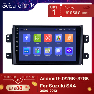 Image 1 - Seicane Car Radio For 2006 2012 Suzuki SX4 Android 9.0 9 Inch 2Din HD Touchscreen GPS Multimedia Player Support Bluetooth WIFI