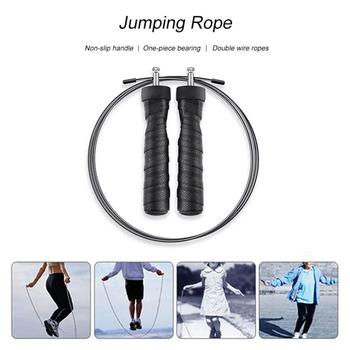 Exercise Jump Rope Fast Speed Jump Rope Steel Wire Skipping Rope Metal Jumping Rope Rope Fitness Equipment for Women Men Gym Wor