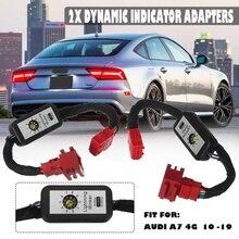 2 шт. Динамический светодиодный индикатор Flasher адаптеры задние фонари светодиодный задний фонарь дополнительный модуль кабель жгут проводов для Audi A7 4G 2010
