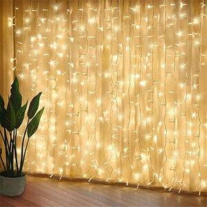Image 2 - 960LEDS LED Vorhang Lichter Fee Girlande String Licht Eiszapfen Weihnachten Indoor Outdoor Hochzeit Beleuchtung Home Party Gararden Decor