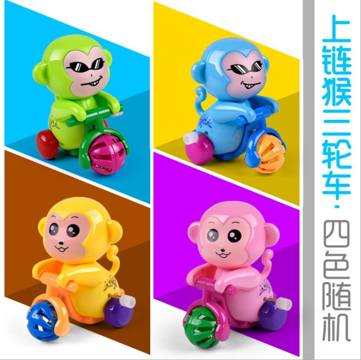 Toy Educational Winding Cycling Children Spring Little Monkey Unisex Cute Cartoon Baby Children Mainland China