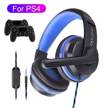 3.5 Jack Gamer Headphone With Microphone For PS4 Noise Cancel Gaming Headset Fone Stereo Bass наушники For Xiaomi Phone Tablet
