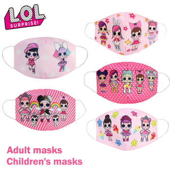 LOL Surprise Dolls Cartoon Cotton Face occlusion Anti Dust Reusable Breathable Face Mouth Protection LOL Dolls Gifts for Girls
