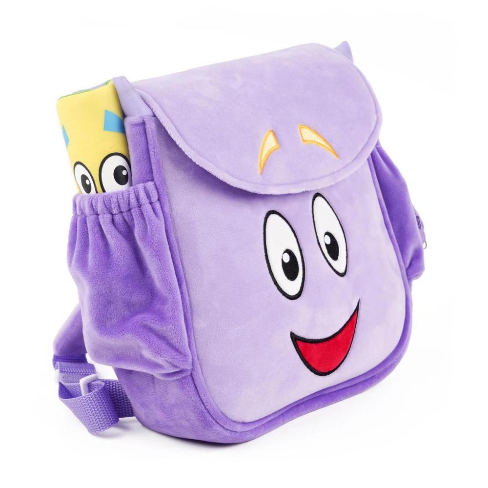 Original Dora Explorer PVC Plush Rescue Bag Purple Pink Color Free Shipping Action Figure Children Toy Birthday Christmas Gift