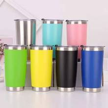 Insulated Travel Mug Tumbler Vacuum Coffee Stainless-Steel 550ML Portable Double-Wall