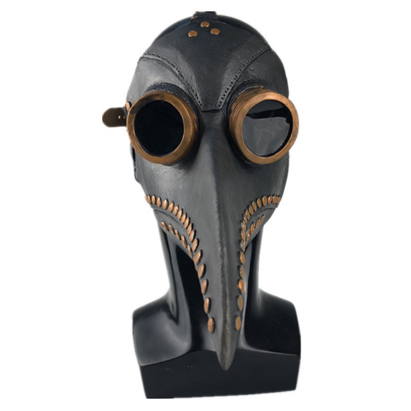 Image 3 - Halloween Plague Doctor Latex Mask Long Nose Beak Bird Crow Cosplay Steampunk Party Masks-in Party Masks from Home & Garden