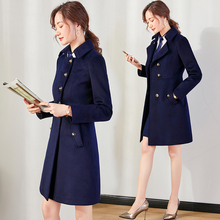Fashion professional overcoat thickened warm and slim overcoat Hotel lobby front desk manager sales Department coat