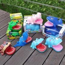 Jouet pour enfants, bouche de chien, Crocodile, requin, dentiste, mordiller au doigt, nouveauté, famille, amusant, cadeau