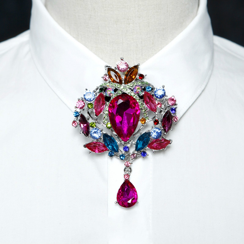 New Rhinestone Bolo Bow Tie High-end Luxury Gifts Korean Version Of The British Wedding Wedding Banquet Bowtie Men's Jewelry