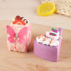 Image 3 - 42個混合カラフルな蝶ケーキデコレーションツールカップケーキトッパーケーキ食用漫画米ウエハ紙カップケーキトッパーbirthda