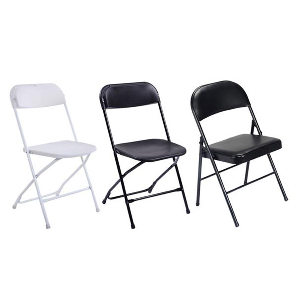 Phenomenal 5Pcs Portable Plastic Folding Chairs White Office Conference Dailytribune Chair Design For Home Dailytribuneorg