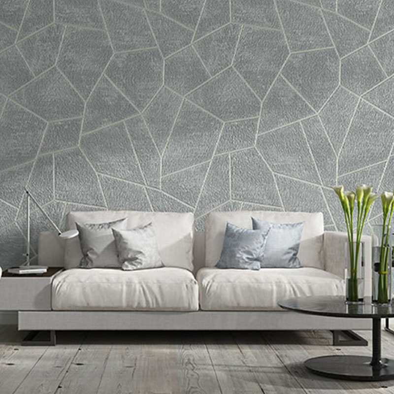 Modern Simple Wallpaper 3d Geometric Flocking Non Woven Wall Paper Roll Living Room Tv Sofa Bedroom Home Decor Background Wall Wallpapers Aliexpress