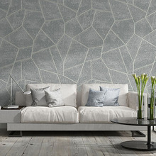 Modern Simple Wallpaper 3D Geometric Flocking Non-Woven Wall Paper Roll Living Room TV Sofa Bedroom Home Decor Background Wall