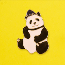 Cute Fat Panda Brooch Badge Animal Badges for Backpack Enamel Pins Clothes Lapel Pin Badges for Clothes Jewelry Gift Accessories leisurely cute cats badges for clothes animal enamel pins for backpacks clothes lapel pin badges for backpack badge jewelry gift