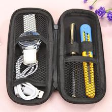 лучшая цена Portable Pencil Case EVA Zipper Makeup Storage Bag School Office Stationery PU leather pen bag Best Gifts for Children Students