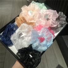 Резинки для волос из органзы с цветами цветные эластичные резинки