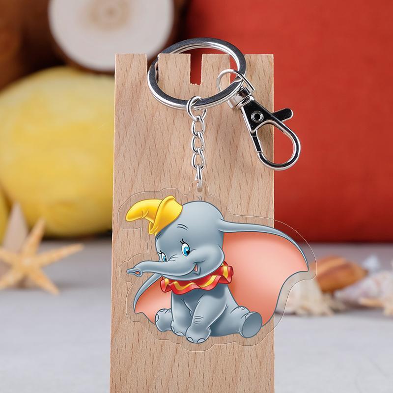 Anime dumbo chaveiro bonito elefante acrílico pingente chaveiro fãs presente