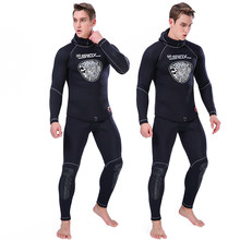 Full Body Diving Suit for Men Scuba Diving Wetsuit With Hat Swimming Surfing UV Protection Snorkeling Spearfishing Wetsuit Male(China)