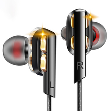 цена на In Ear Earphones Bass Ear HIFI Headset DJ Earphone Metal Stereo Earbuds with Microphone for Mobile Phone MP3 MP4 Xiaomi