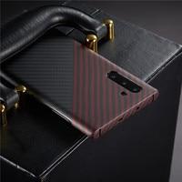 Fibra de aramida capa traseira para samsung galaxy note 10 + mais capa protetora casos de carbono e tampas para carros