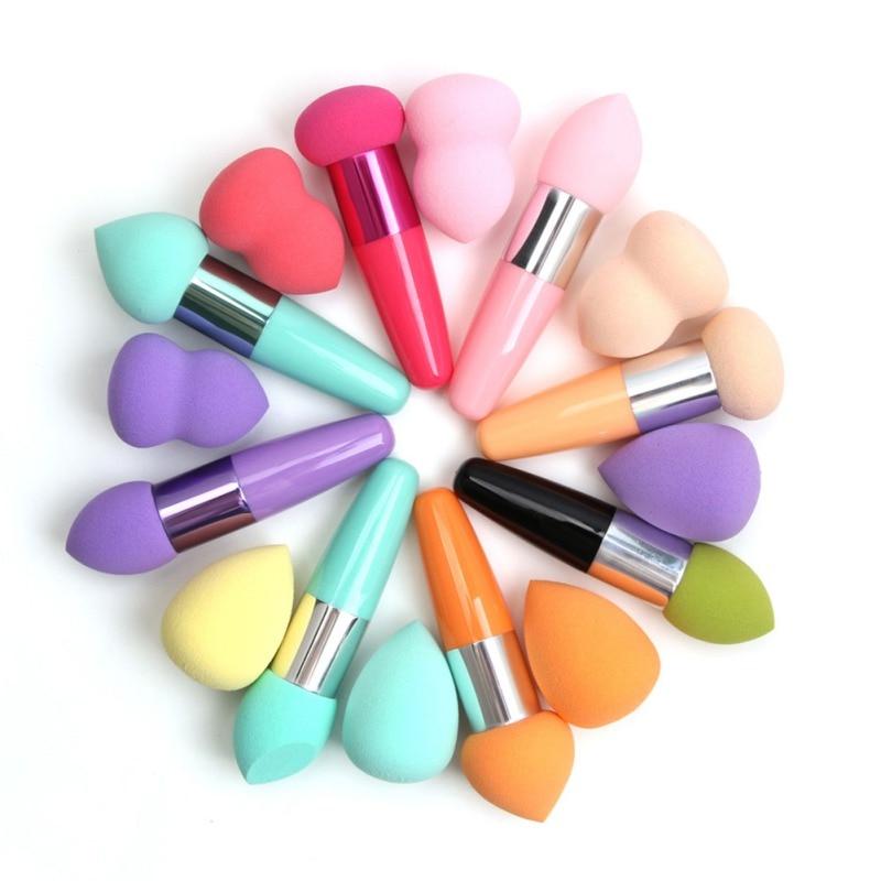 2 Pcs/Set Makeup Blenders & Sponges Sponge Puff Stick Rods Makeup Brush Face Professional Make Up Brush Tool Set Large Cosmetic
