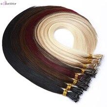 Hair-Extensions Nano-Rings Human-Hair-Thick Natural-Hair 50pcs Blonde Micro-Bead S-NOILTE