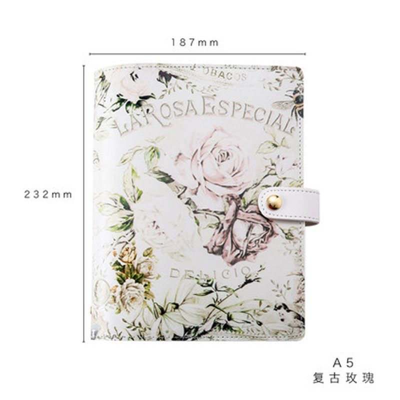 Cute PU Leather Floral Flower Schedule Book Diary Weekly Planner Notebook School Office Supplies Kawaii Stationery