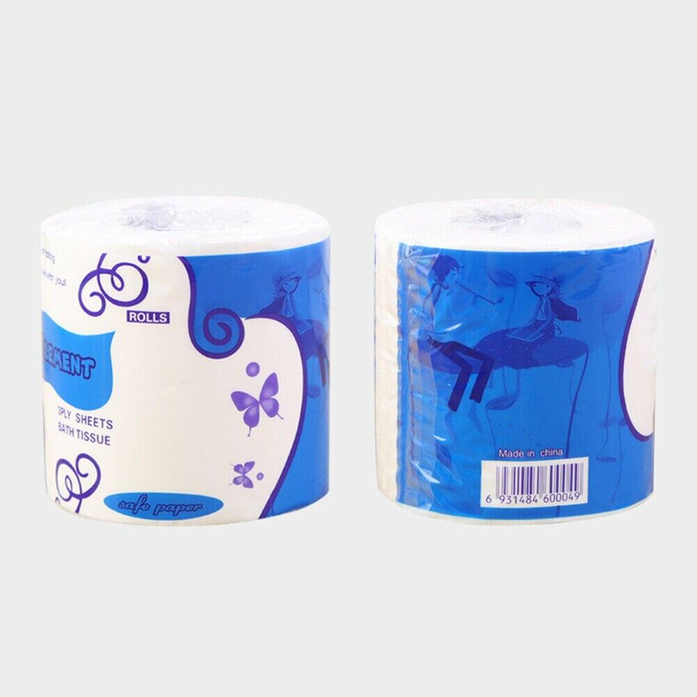 3-Ply Toilet Paper Roll White Soft Skin-friendly Bathroom Household Tissue TT@88