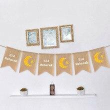Ramadan Kareem Decoration Eid Mubarak Banner for Home Eid De