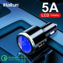 IHaitun lüks LCD 5A USB araç şarj için Samsung S9 S10 hızlı USB 3.0 3.1 hızlı şarj için iPhone 11 huawei P30 Pro Oneplus 7 X