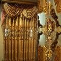 Европейские шторы для гостиной  шенилл  вышитые  европейская вилла  Элитные шторы для спальни