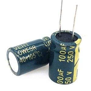 20 teile/los 250v 100uf 16*25 20% RADIAL aluminium-elektrolyt-kondensator 100000NF high-frequenz kristall Elektrolytischen kondensator