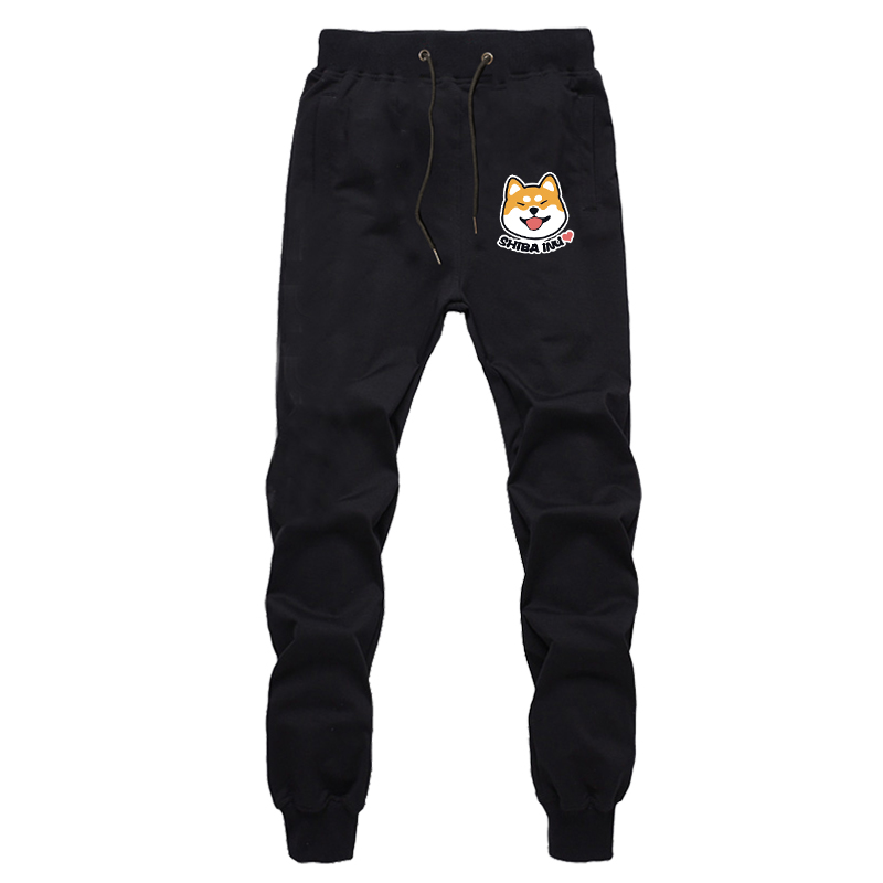 Shiba Inu Cute Loose Pants Breathable Cosplay Unisex Abimal Cartoon Bottom Cotton Sports Breathable Pants Sweatpants Winter