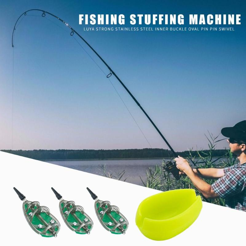 Hot Sale Fishing Feeders Classic Delicate 3pcs Inline Method Carp Fishing Feeders With Mould Bait Basket Set 30g+40g+50g