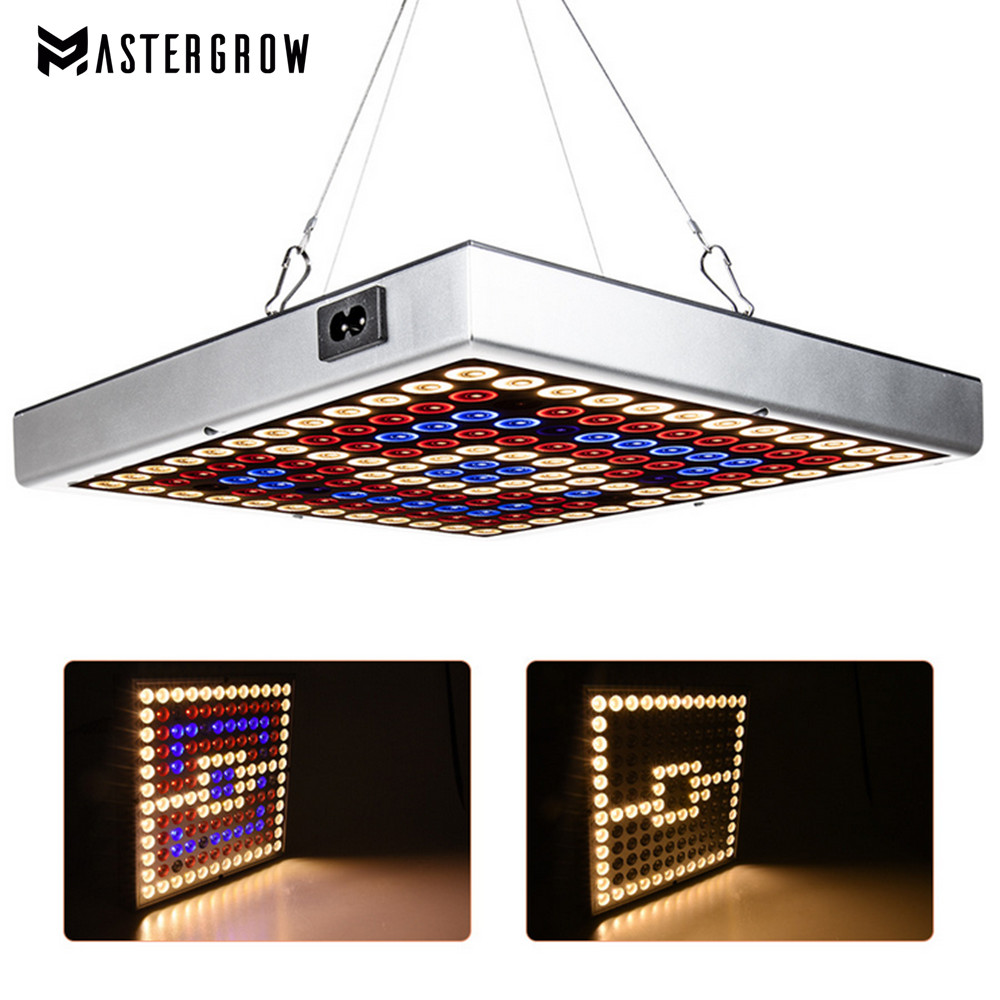 Full Spectrum 75/144Leds LED Grow Light VEG/BLOOM AC85-265V Growing Lamps UV/IR Fitolampy For Plants Flowers Seedling Grow Tent