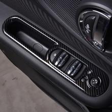 4Pcs Car Windows Control Panel decoration cover For MINI Cooper F54 Clubman Automotive interior sticker car styling Accessories