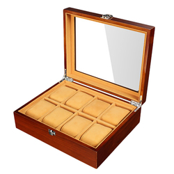 Retro Wooden Watch Display Case Durable Packaging Holder Jewelry Collection Storage Watch Organizer Box Casket