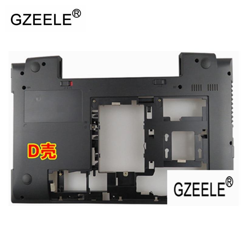 GZEELE New For IBM Lenovo Thinkpad  B590 B595 Palmrest CoverLaptop Bottom Base Case Cover D Shell  Black