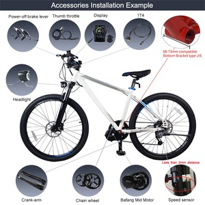 Image 5 - Bafang BBS02B 48V 750W Mid Drive Motor 8fun BBS02 Bicycle Electric eBike Conversion Kit Powerful Central e Bike Engine Newest