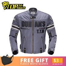 DUHAN yaz motosiklet ceket erkek nefes Chaqueta Moto ceket örgü süvari ceketi motosiklet çıkarılabilir koruyucu