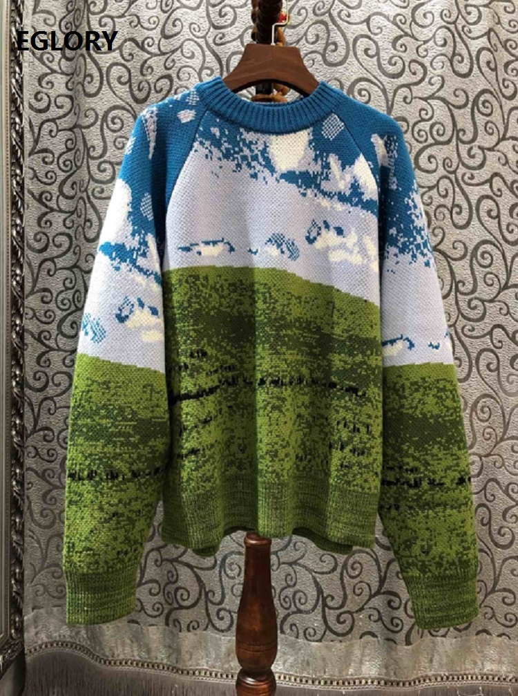 2020 Autumn Winter Fashion Pullovers And Sweaters Women High Quality Knitting Long Sleeve Casual Loose Jumpers Female Knitwear