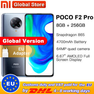 Xiaomi Snapdragon 865 POCO F2 Pro 8GB 256GB GSM/LTE/WCDMA Nfc Usb-Pd/quick charge 4.0