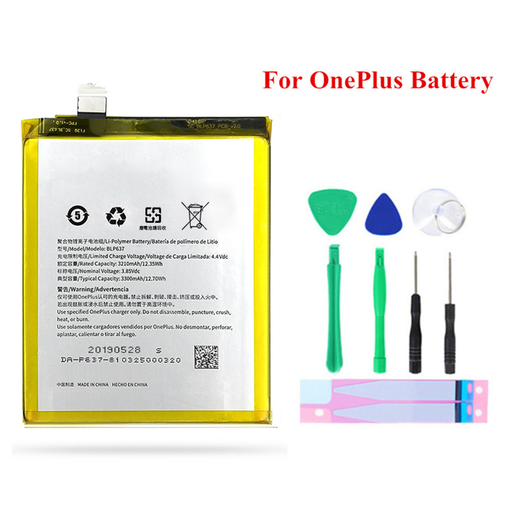 For OnePlus 5 5T <font><b>3</b></font> 3T 2 1 1+ 6 6T <font><b>7</b></font> Battery High Capacity Replacement BLP571 BLP597 BLP613 BLP633 BLP637 BLP685 Batteries image